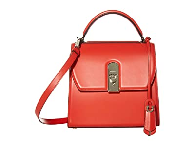 Salvatore Ferragamo Boxyz Top-Handle Bag (Arid Coral) Handbags