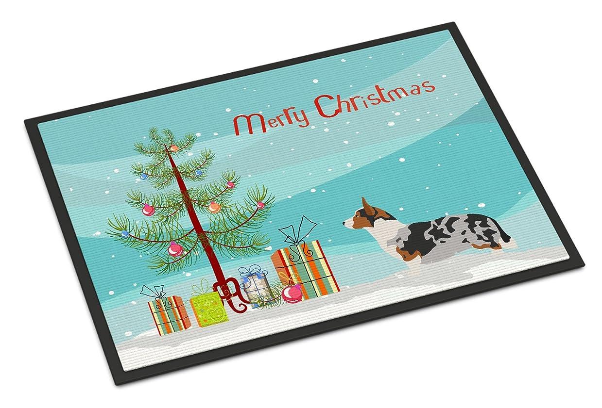 不足優れましたドールCaroline's Treasures ウェルシュコーギーカーディガン クリスマスドアマット、45.72cm x 68.58cm、マルチカラー