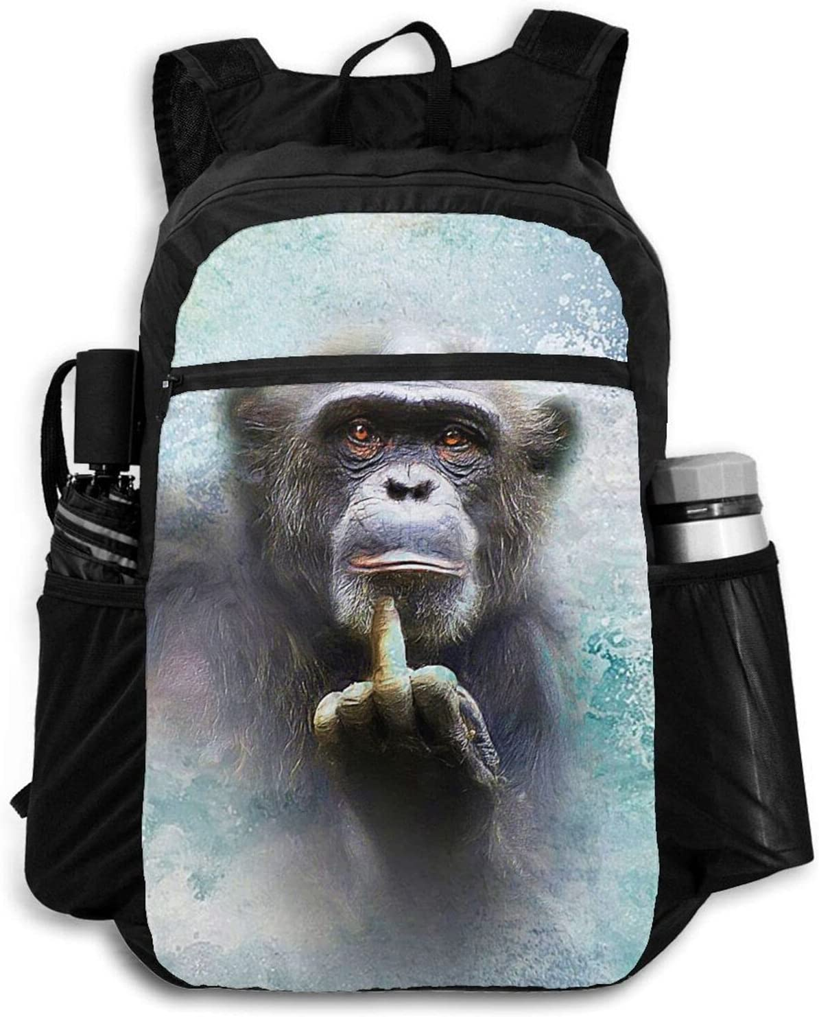 Zolama Funny trust Animal Chimpanzee Middle Women for Backpacks Max 87% OFF Finger