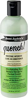 Aunt Jackie's Quench, Moisture Intensive Leave-in Conditioner, Ultra-Hydrating, Deep Moisture Therapy for Parched Hair, 12...