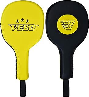 VELO Taekwondo Kick Pads Microfiber Leather Double Kick Durable Strike Pads Kickboxing Training Combat Sports Karate Kicking Target (Single Item Only)