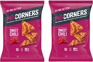 PopCorners PopCorn Snack Chips Pack of 2 5oz Bags (Sweet Heat Chili PopCorners)