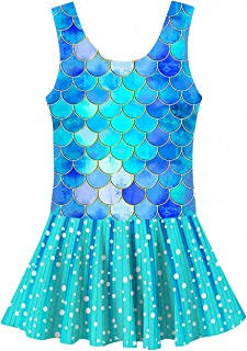 YRCUONE Girls One Piece Swimsuit Cute Mermaid Floral Quick Dry Swim Dress Swimwear Bathing Suit 3-10 Years