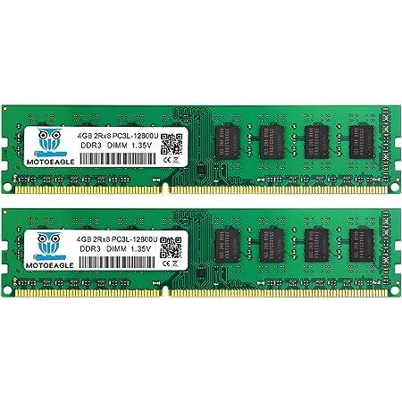 PC3L 12800U 8gb Kit (4GB×2枚) DDR3L 1600MHz sdram 4gb Desktop 240Pin 1.35V/1.5V 2Rx8 Non-Ecc デスクトップ PC用メモリモジュール