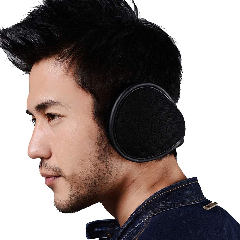 Ear Warmers Foldable for Men Women Fleece Unisex Winter Ear muffs Outdoor  Adjustable Knit Earmuffs (Black) at Amazon Men's Clothing store