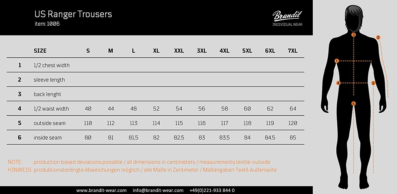 Brandit Men's Us Rangerhose Slacks Swedish Camo M91