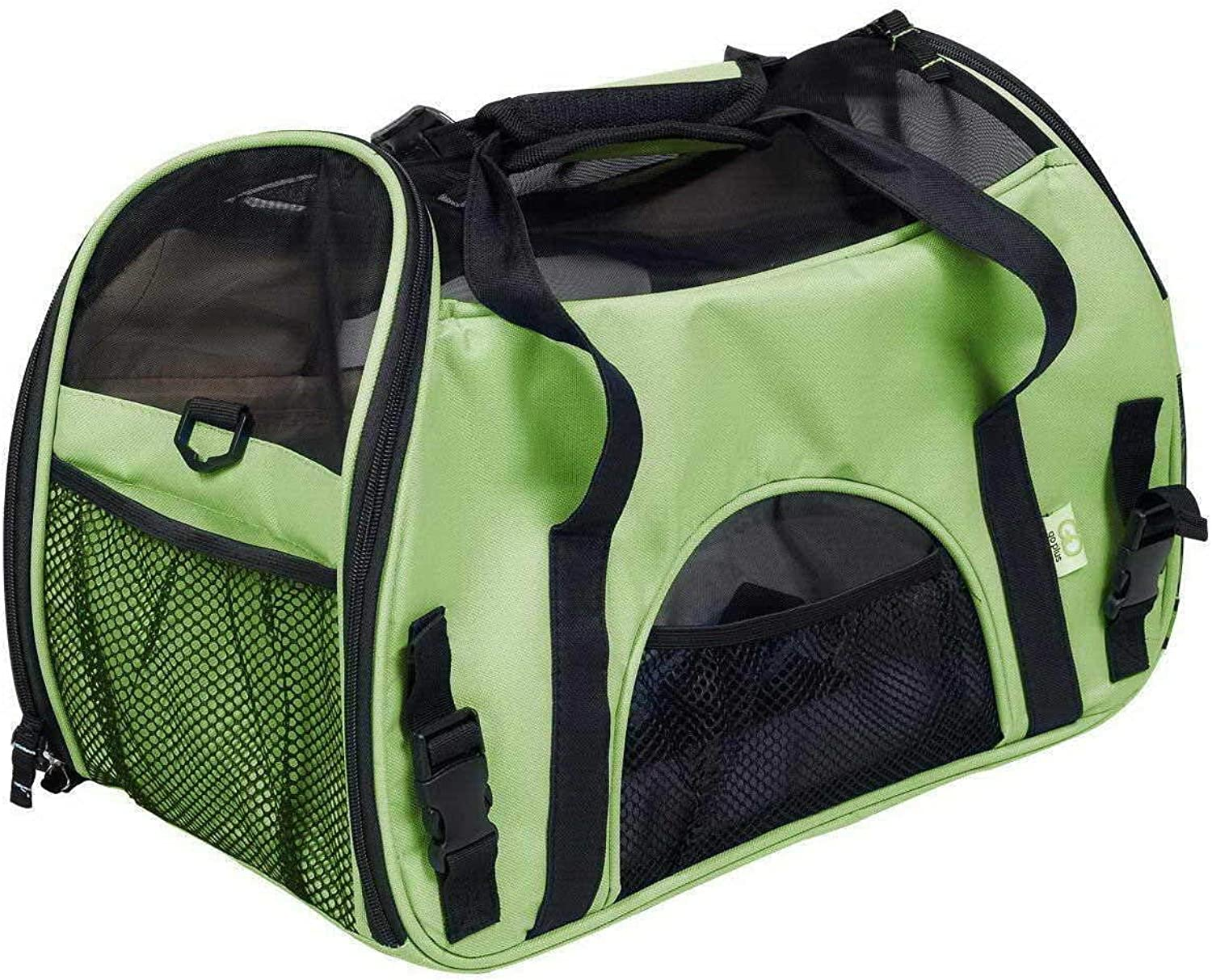 Pet Travel Carrier Pet Carrier Travling Bags Dog Cat Carrier Backpack Hands Free Pet Puppy Outdoor Bag Tote Ourtdoor Pet Bag (color   Green, Size   L)
