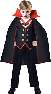 Dracula Costume for Boys, Includes a Shirt with an Attached Vest and a Matching Cape