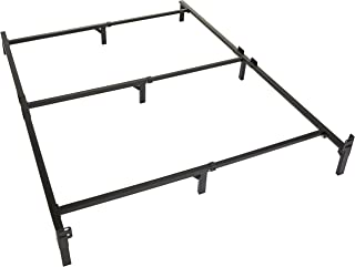 Amazon Basics 9-Leg Support Metal Bed Frame - Strong Support for Box Spring and Mattress Set - Queen Size Bed