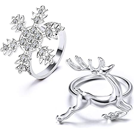 WILLBOND Weihnachten Servietten Ringe Halter f/ür Weihnachten Abendessen Party Gold Blatt, 6 Hochzeit Schmuck Tisch Dekoration Zubeh/ör