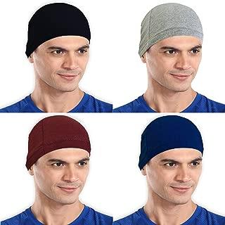 The Blazze Cotton Helmet Cap (Free Size, Black+Grey+Maroon+Royal Blue)