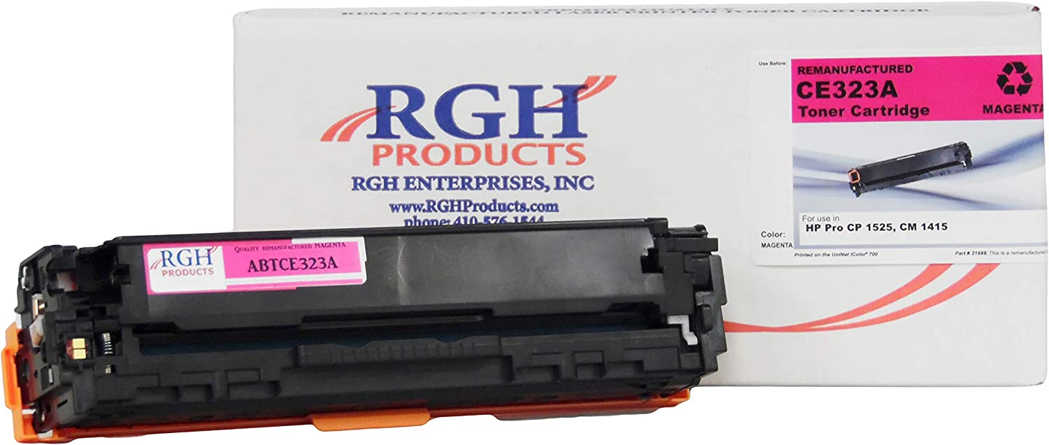 RGH Products Remanufactured Toner Cartridge ABTCE323A Tray Toner Cartridge Replacement for HPCE323a Printer Magenta