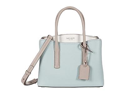 Kate Spade New York Margaux Medium Satchel (Cloud Mist Multi) Satchel Handbags