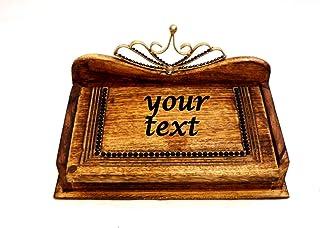 Caja de Madera con Texto, Caja de madera para Joyería, Caja de Boda, Joyero Boda Lujo, Caja de Joyas, Caja Grabada Persona...