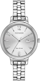 Women's 'Silhouette' Quartz Stainless Steel Casual Watch, Color:Silver-Toned