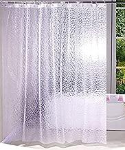Kuber Industries Coin Design PVC AC Shower Curtain - 8 ft, Transparent