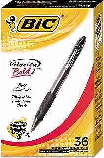 Product of BIC Velocity Retractable Ball Pen, 1.6 mm, Black, 36 pk. - All Pens [Bulk Savings]