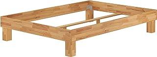 Erst-Holz Lit Adulte en hêtre Massif huilé 140x200 Cadre de lit futon sans tête de lit sans literie 60.87-14oR