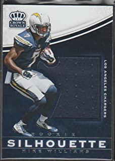 2017 Crown Royale Mike Williams Chargers Rookie Jersey Football Card #19