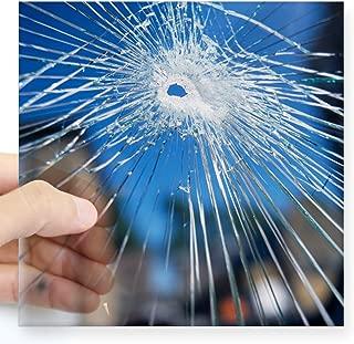 CafePress Broken Glass Square Sticker 3 Square Bumper Sticker Car Decal, 3