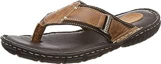Lee Cooper Men's Leather Flip Flops Thong Sandals