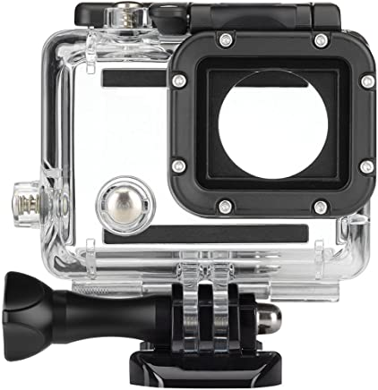 FitStill Replacement Dive Housing Case Waterproof Housing for HERO4, HERO3+ and HERO3