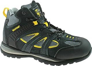Chaussures de sécurité Grafters daim gris/jaune taille 35-45M474FZ KD