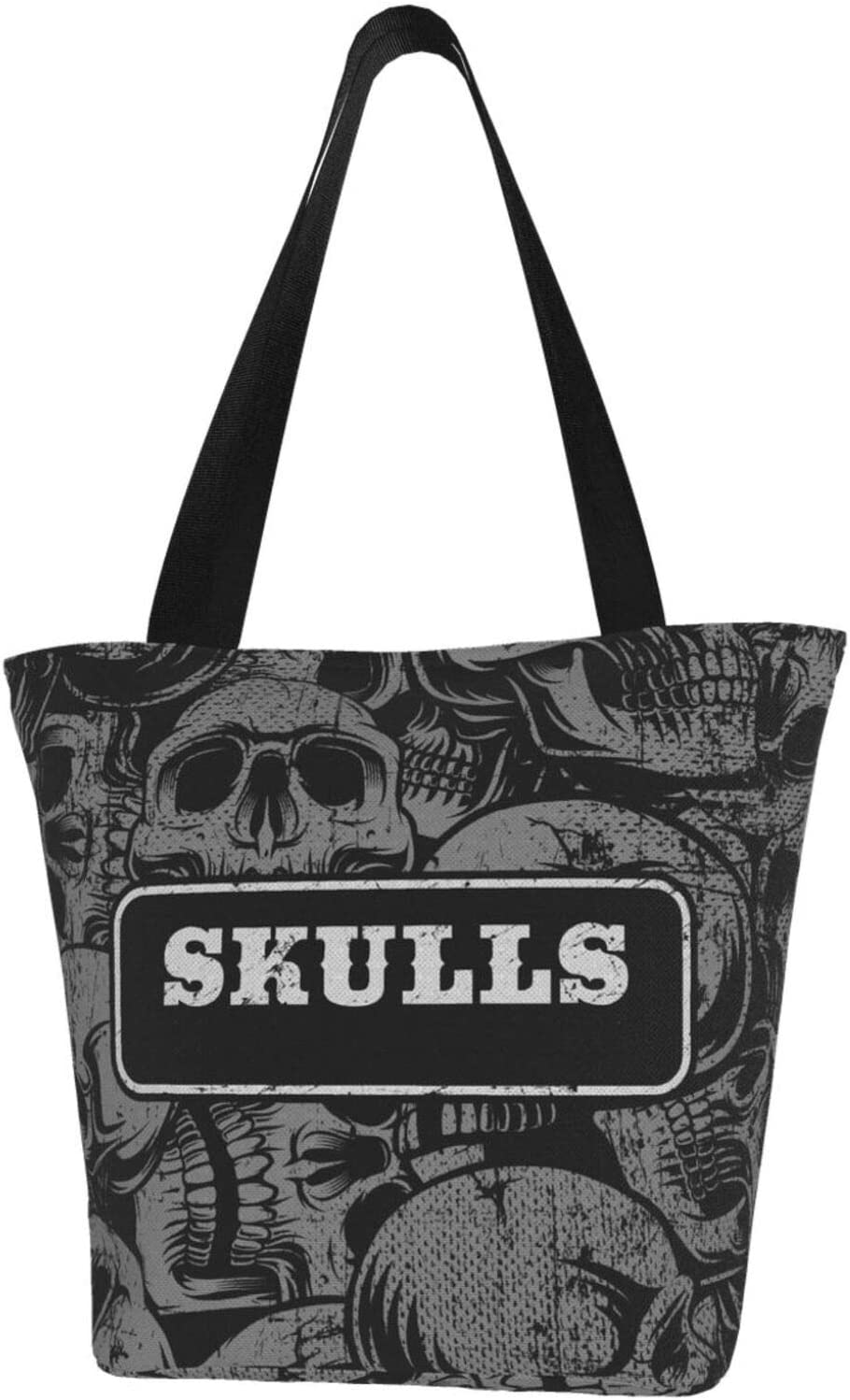 AKLID Black Skulls Pattern OFFicial site Cheap mail order specialty store Extra Water Canvas To Large Resistant