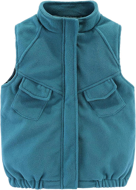 UP YO EB Little Boys Fleece Vests Jacket Outerwear Sleeveless