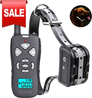 CANAVIS Dog Shock Collar with 1800Ft Remote, Waterproof Dog Training Collar, Rechargeable Electronic Collar with Vibration Tone Shock Modes, Adjustable Collar Strap for Small Medium Large Dog