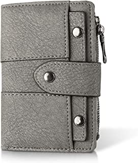 Reocahoo Women's Small Wallet Bifold Wallet With ID Window Card Sleeve Coin Purse Card Wallets for Women Grey