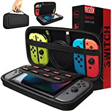Orzly Carry Case Compatible With Nintendo Switch – BLACK Protective Hard Portable..