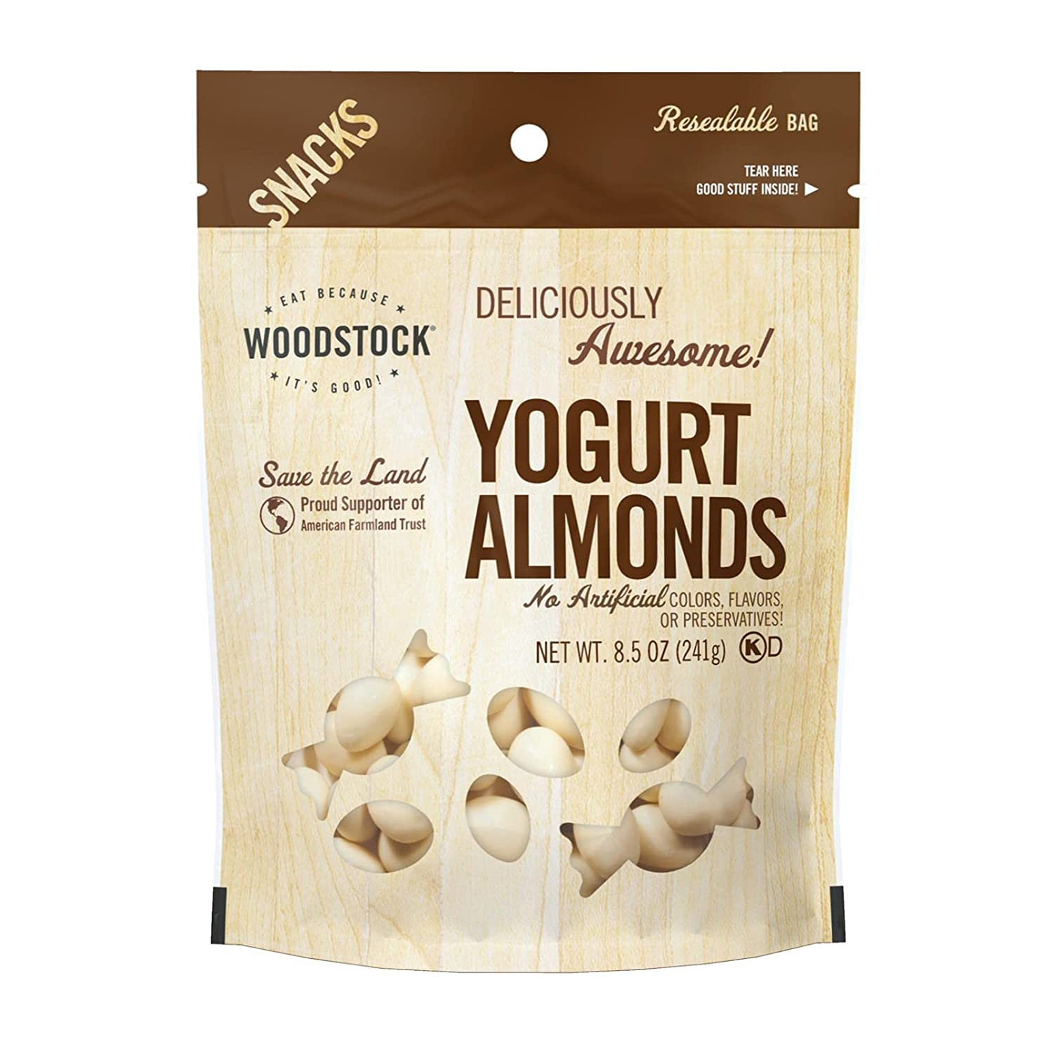 Woodstock Farms High order All Excellence Natural Yogurt Almond - 8 cas per Ounce 8.5