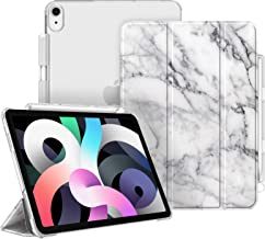 Fintie Case for iPad Air 4 10.9 Inch 2020 with Pencil Holder - SlimShell Lightweight Stand Case with Translucent Frosted B...