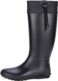Women's Packable Tall Rain Boots - NOT for Wide Calf - Ultra Lightweight Flat Wellies