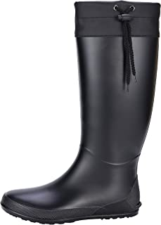 Women's Tall Rain Boots Soft Waterpoof Wellington Wellies Ultra Lightweight Garden Boots