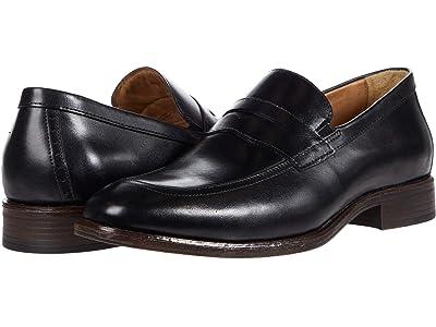Johnston & Murphy Lewis Penny (Black Full Grain Leather) Men