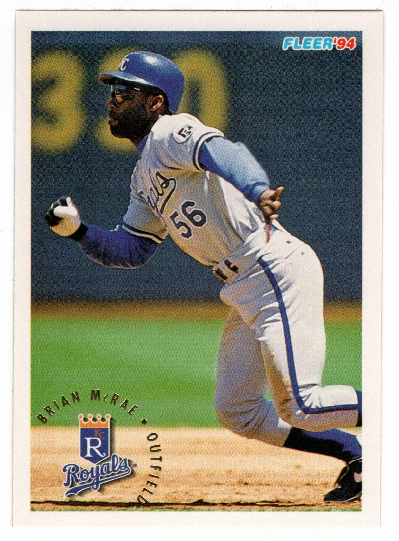 Brian McRae - Kansas City Royals Card Sale Baseball # 1994 Max 48% OFF 16 Fleer