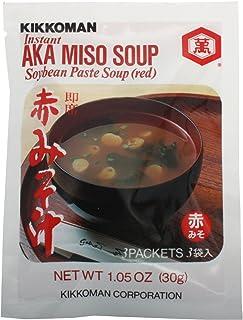 Kikkoman Miso Soup Aka Instant, 1.05-ounce Units (Pack of 3) , Total 9 Individual Servings