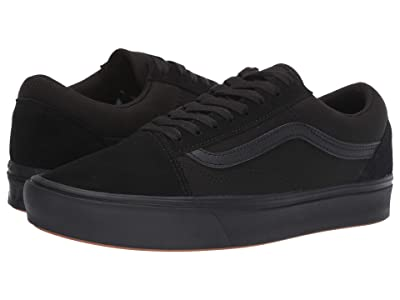 Vans Comfycush Old Skool ((Classic) Black/Black) Athletic Shoes