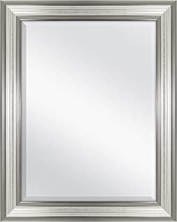 MCS 18x24 Inch Ridged Mirror, 23x29 Inch Overall Size, Silver (20579)