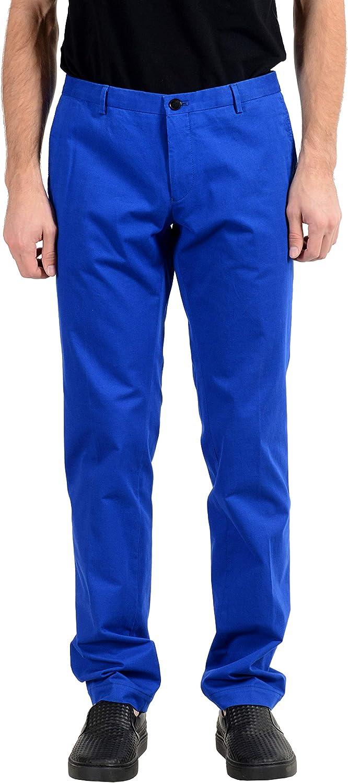 Hugo Boss Gerald182W Men's Blue Slim Stretch Casual Pants US 32 IT 48