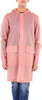 RAINS Luxury Fashion Womens HOODEDCOATROSAANTICO Pink Trench Coat | Season Outlet
