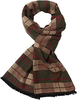 SSLR Men's Colorful Cashmere Feel Soft Long Winter Plaid Scarf