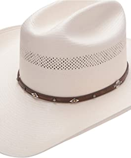 Stetson Men's Lobo 10X Straw All-Around Vent Star Concho Band Cowboy Hat - Sslobo-3042