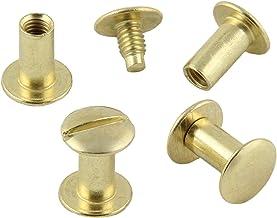 Boekschroeven messing of vernikkeld verschillende maten, 20, 50, 100 of 1000 stuks / 8 mm, 100 Stück messing