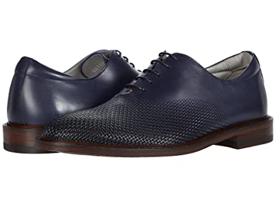 Canali Printed Calfskin Oxford (Blue) Men
