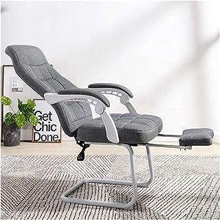 Kontorsstol Kontorsstol Ergonomisk Office Recliner Chair High-Back Desk Stol Racing Style With Lubar Support (Color : Gra...