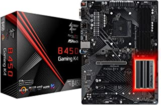 ASRock Fatal1ty B450 Gaming K4 - Placa de Base, Color Negro