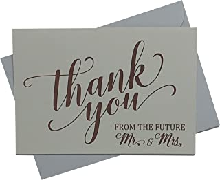 Wedding Shower Thank You Cards - Elegantly Foil Stamped in Rose Gold - Perfect For Showing Your Gratitude to Friends & Family